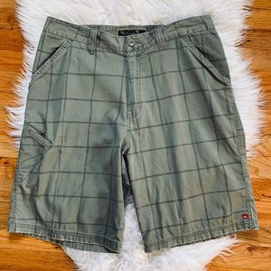Quiksilver Plaid Walking Shorts Gray 34 Casual